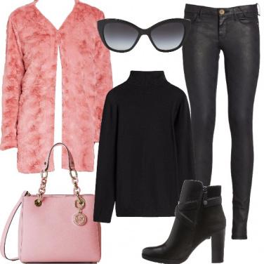 Outfit Ecopelliccia rosa