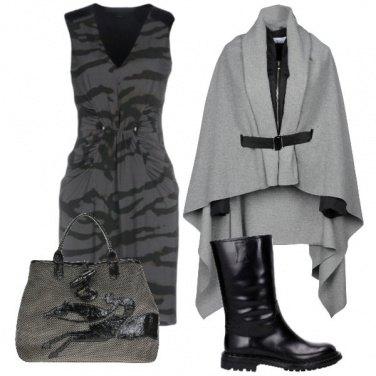 Outfit Animalier sui toni del grigio.