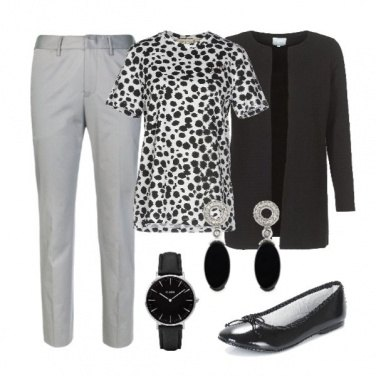 Outfit Animalier black & white
