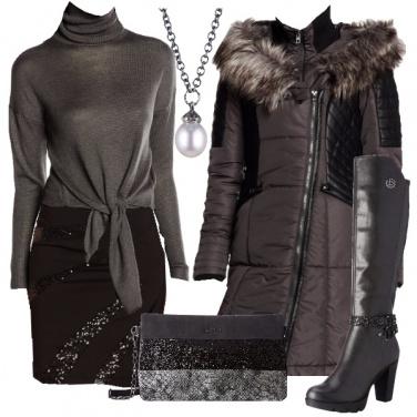 Outfit Grigio da sera