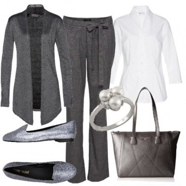 Outfit Scarpe argentate