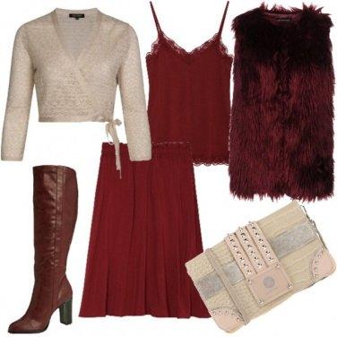 Outfit Bordeaux anni 70
