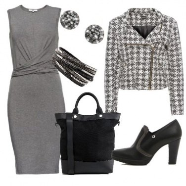 Outfit Ottobre in grigio e nero