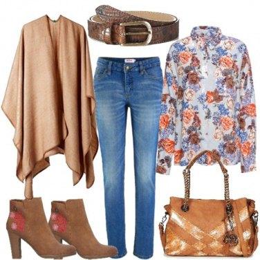 Outfit La camicia a fiori in autunno