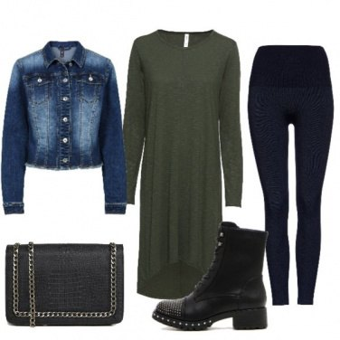 Outfit Stivaletti con le borchie