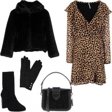 Outfit Serata con l\'abito animalier