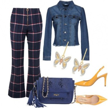 Outfit Blue & yellow