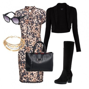 Outfit Elegante con grinta