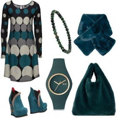 Outfit Pelliccia verde