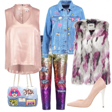 Outfit Punk in rosa