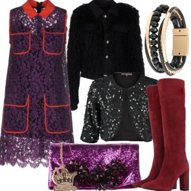 Outfit Capodanno in pizzo e lustrini