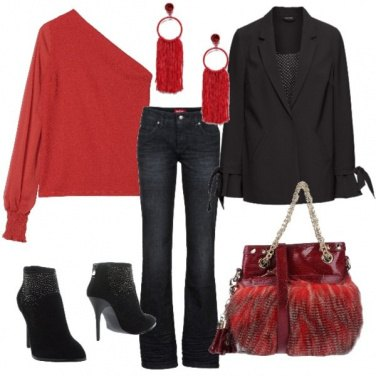 Outfit Rosso di sera......
