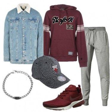 Outfit Giubbotto in jeans e felpa