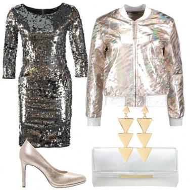 Outfit Oro e argento
