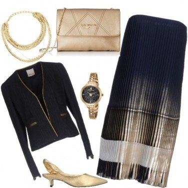 Outfit Gessato e lame'