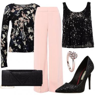 Outfit Romantica con paillettes