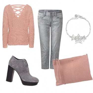 Outfit Inverno pastello