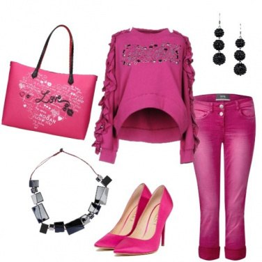 Outfit Pink is the new black