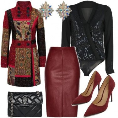 Outfit Bordeux elegante