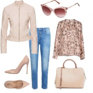 Outfit Sfumature di rosa cipria