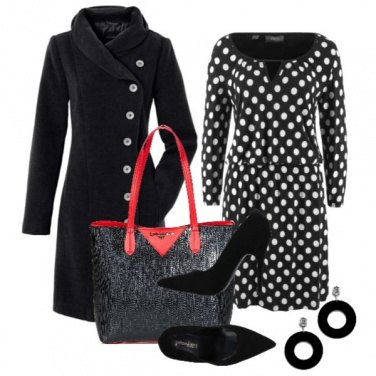 Outfit Pois a lavoro