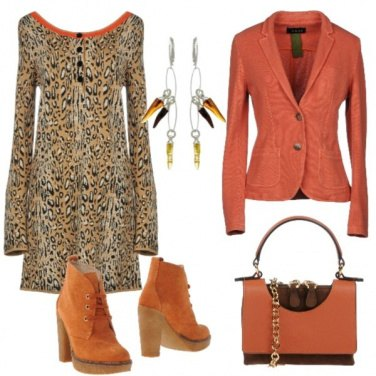 Outfit Animalier in arancione