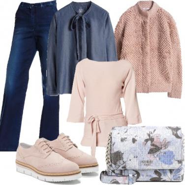 Outfit Romantiche ragazze in denim