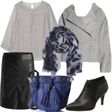 Outfit Grigio blu e nero