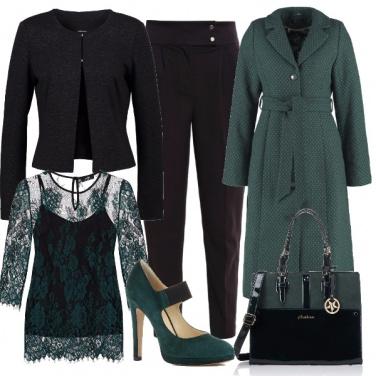 Outfit Raffinata in verde