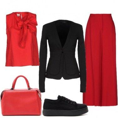 Outfit Bicolore in ufficio