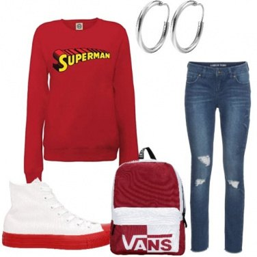 Outfit Red school
