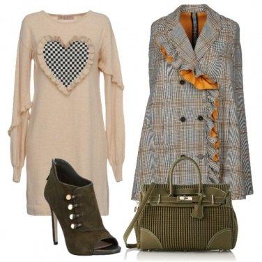 Outfit Caban in principe di galles