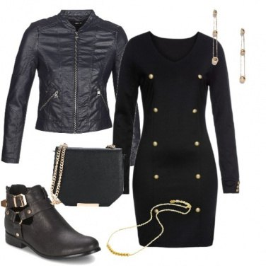 Outfit Nero & oro