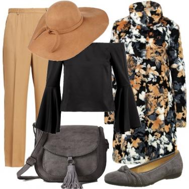 Outfit Cappotto a fiori