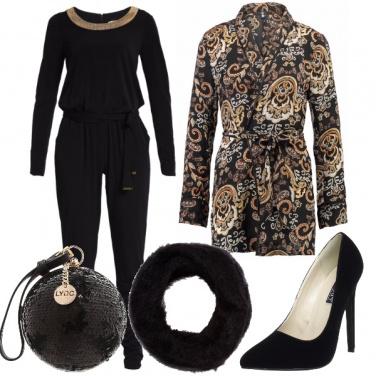 Outfit Blazer damascato