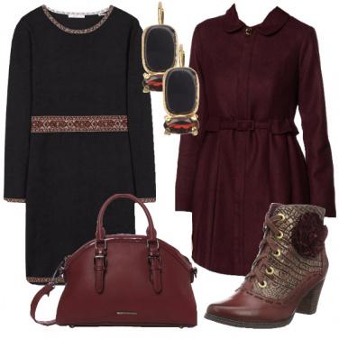Outfit Umore splendido vestito di scuro