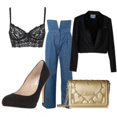 Outfit Jeans e bralette