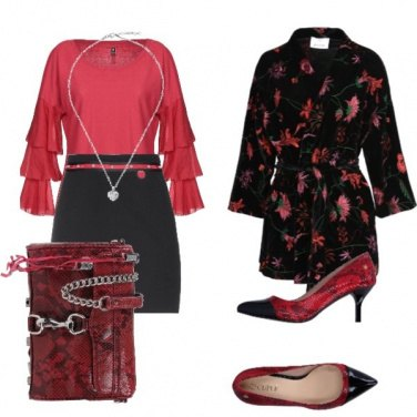 Outfit Giaccone fiorato