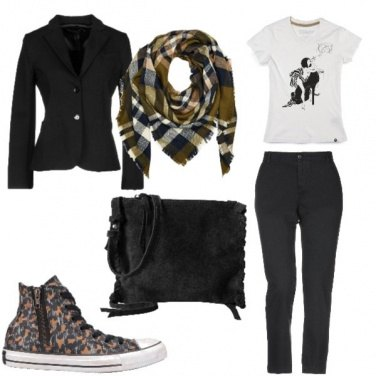Outfit Converse animalier