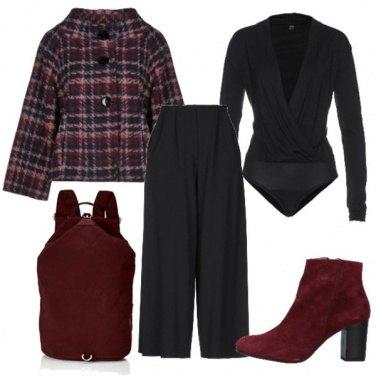 Outfit La giacca tartan