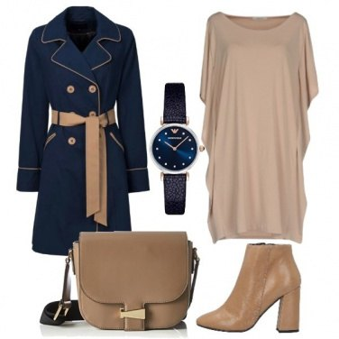 Outfit Il trench bicolore
