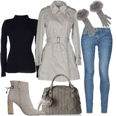 Outfit Fashion in trench