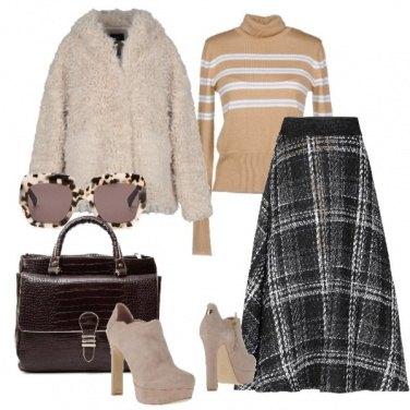 Outfit Tartan & cozy coat