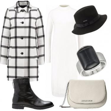Outfit Scacchi in bianco e nero