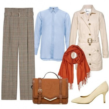 Outfit Trench e camicia