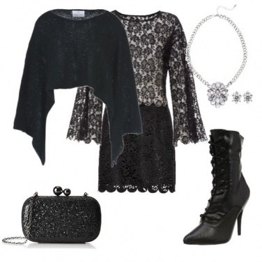 Outfit Black paty