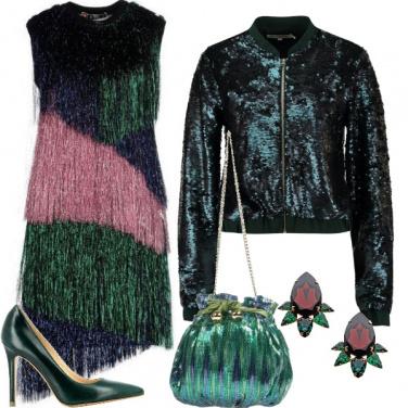 Outfit Capodanno verde scintillante