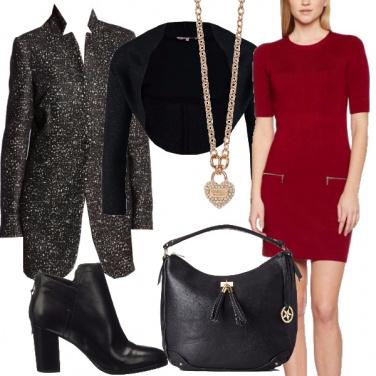 Outfit Tubino rosso festa