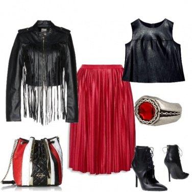 Outfit Il rosso ed il nero!