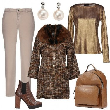 Outfit Cappotto in tweed
